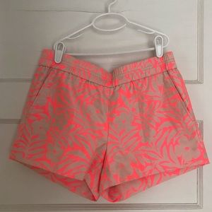 J Crew Pink and Gold Jacquard Shorts, Size 4